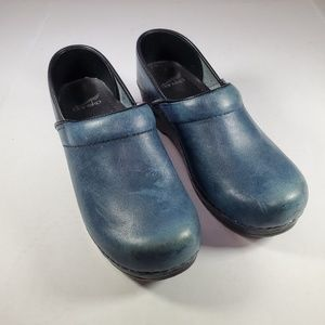 Dansko Teal Clogs, Sz 8.5-9, 39 European.
